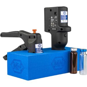 Rack for two ergonomic or electronic crimping tools