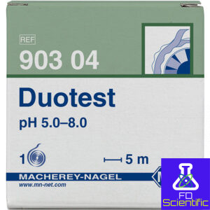 pH test paper Duotest pH 5.0–8.0, with two indicator zones