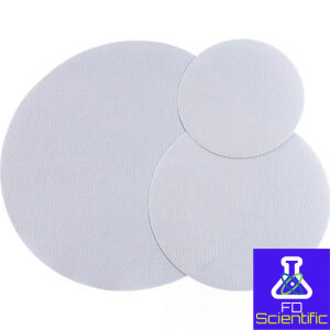 Filter paper circles crepped