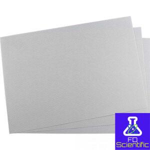 Filter paper embossed